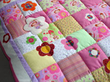 Quilt Patchwork Kinderdecke Emely 2