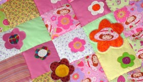 Quilt Patchwork Kinderdecke Emely 4
