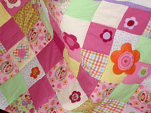 Quilt Patchwork Kinderdecke Emely 6