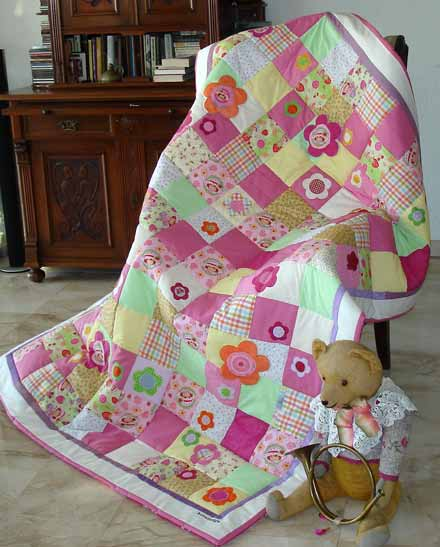 Quilt Patchwork Kinderdecke Emely 1