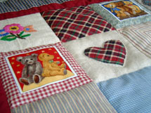 Quilt Patchwork Kinderdecke Country Bear 2