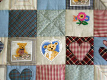 Quilt Patchwork Kinderdecke Country Bear 3