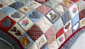 Quilt Patchwork Kinderdecke Country Bear 44