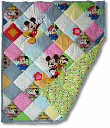 Quilt patchwork Kinderdecke Miky Mouse 2