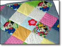 Quilt Patchwork Kinderdecke Miky Mouse 5