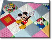 Quilt Patchwork Kinderdecke Miky Mouse 7