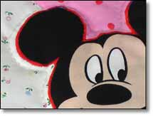 Quilt Patchwork Kinderdecke Miky Mouse 9